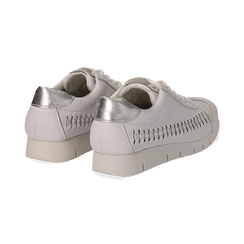 Sneakers bianche in eco-pelle , Scarpe, 130609571EPBIAN035, 004 preview