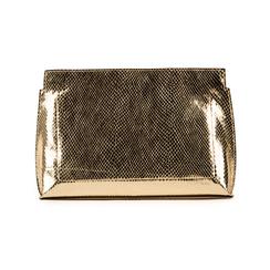 Pochette doré en simili cuir imprimé vipère, Sacs, 15D208516EVOROGUNI, 003