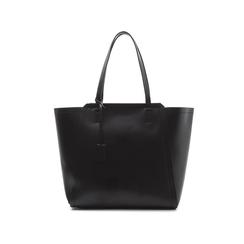 Maxi-bag nera in eco-pelle con design a trapezio, Borse, 133763772EPNEROUNI, 001 preview