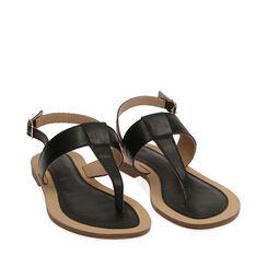 Sandalias de dedo negras, 174957188EPNERO037, 002a