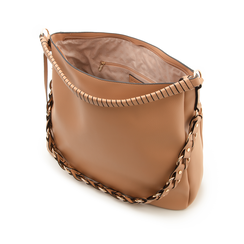 Maxi bag cuoio in eco-pelle con tracolla decor, Borse, 133881161EPCUOIUNI, 004 preview