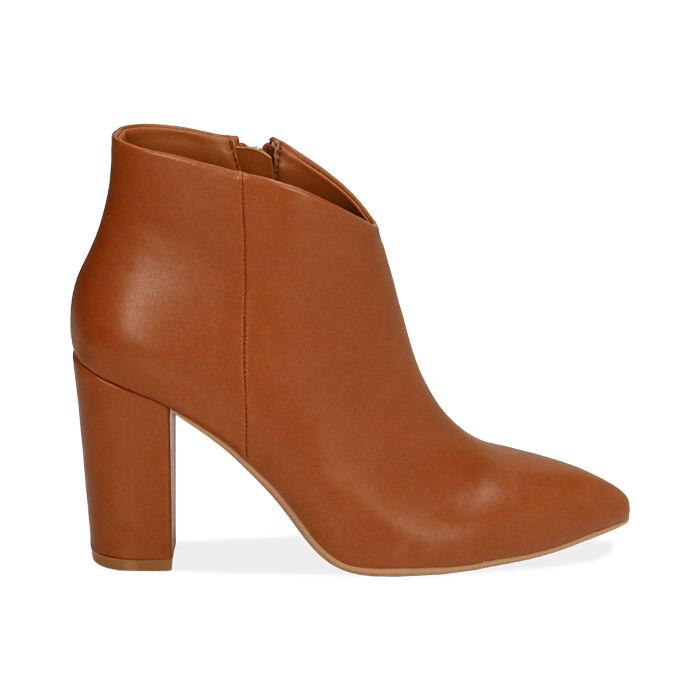Ankle boots cognac, tacco 9,5 cm , Primadonna, 174916101EPCOGN037