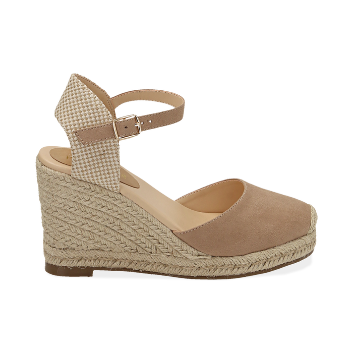WOMEN SHOES ESPADRILLAS MICROFIBER BEIG, Zapatos, 154922102MFBEIG036