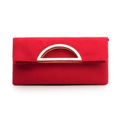 Pochette estensibile rossa in microfibra, Borse, 135700150MFROSSUNI, 001 preview