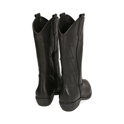 Camperos neri in pelle, tacco 4 cm , Primadonna, 168900020PENERO037, 003 preview