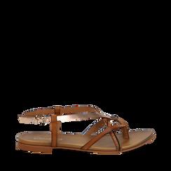 Sandali infradito cuoio in eco-pelle, Primadonna, 13B961532EPCUOI035, 001a