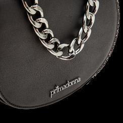 Pochette nera forma arrotondata in ecopelle, Primadonna, 122300305EPNEROUNI, 004 preview