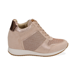 Baskets or rose brillantes compensées, Chaussures, 152821522GLRAOR038, 001 preview