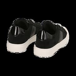 Sneakers nere in microfibra, Scarpe, 142619071MFNERO035, 004 preview
