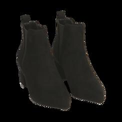 Ankle boots neri in microfibra, tacco 6 cm , Primadonna, 164931531MFNERO035, 002 preview