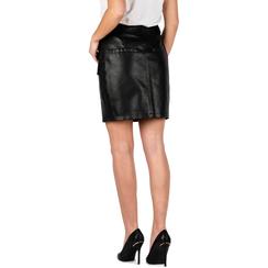 Mini jupe noir en simili-cuir, 156500826EPNERO3XL, 002a