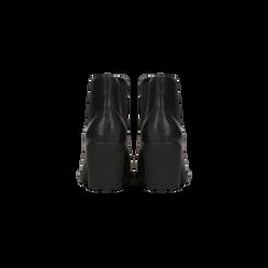 Chelsea Boots neri, tacco medio 7 cm, Scarpe, 120800819EPNERO, 003 preview