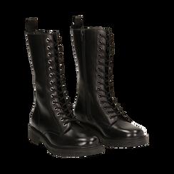 Botas militares de piel en color negro, Primadonna, 167710810PENERO036, 002 preview