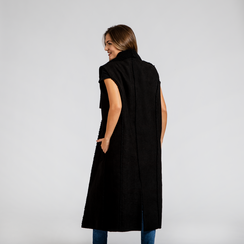 Gilet Eco-Montone Donna Nero, Saldi, 12B400701MFNERO, 004 preview