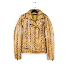 Biker jacket gialla stampa cocco, Abbigliamento, 156501164CCGIAL, 003 preview