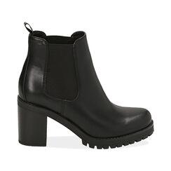 Botines Chelsea negro, tacón 8 cm , PROMOCIONES, 160637851EPNERO040, 001 preview