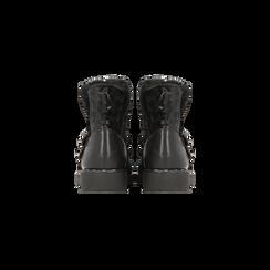 Scarponcini da neve neri con fibbie e borchie, Scarpe, 120810075VLNERO036, 003 preview