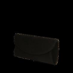 Pochette negra en microfibra, Bolsos, 165122502MFNEROUNI, 002a