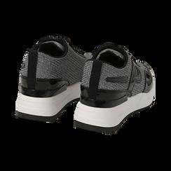 Sneakers canna di fucile glitter, suola 5,50 cm , Scarpe, 142898982GLCANN036, 004 preview