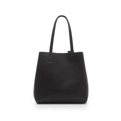 Maxi-bag nera in eco-pelle , Primadonna, 135786734EPNEROUNI, 003 preview