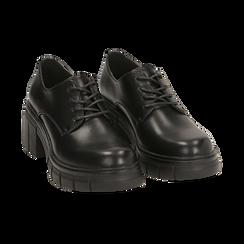 Stringate nere, tacco 5 cm  , Promozioni, 160621175EPNERO037, 002 preview