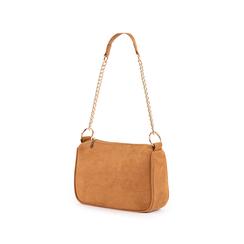 Petit sac porté épaule marron en microfibre, Sacs, 155127201MFMARRUNI, 004 preview
