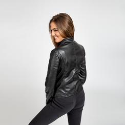 Giacca ecopelle corta nera, Abbigliamento, 126577302EPNEROL, 003 preview