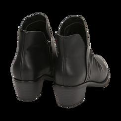 Bottines noires en simili-cuir, talon de 4,50 cm, Primadonna, 150693110EPNERO035, 004 preview