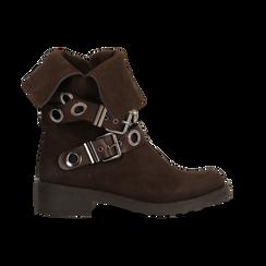 Stivaletti con Fibbie e Borchie - Biker Boots, Scarpe, 12A700272MNMARR, 001 preview