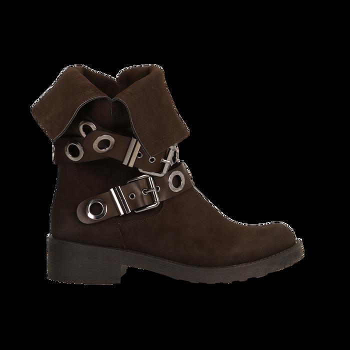 Stivaletti con Fibbie e Borchie - Biker Boots, Scarpe, 12A700272MNMARR