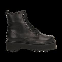 Botas militares de piel en color negro, Primadonna, 167728502PENERO040, 001 preview