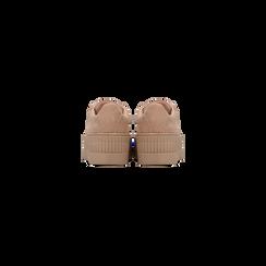 Sneakers rosa nude con suola extra platform zigrinata, Primadonna, 122618776MFNUDE, 003 preview