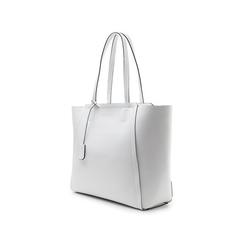 Maxi-bag bianca in eco-pelle con design a trapezio, Borse, 133763772EPBIANUNI, 004 preview