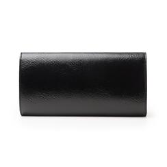 Pochette nera in laminato, Borse, 145122502LMNEROUNI, 003 preview