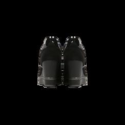 Sneakers nere zeppa platform, Scarpe, 122808661MFNERO, 003 preview