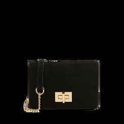 Petit sac noir en microfibre, IDEE REGALO, 165122947MFNEROUNI, 001a