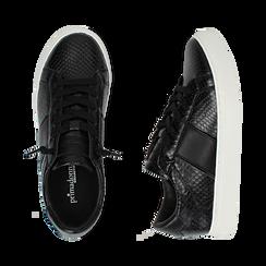 Sneakers noires imprimé vipère, Primadonna, 162619071EVNERO036, 003 preview
