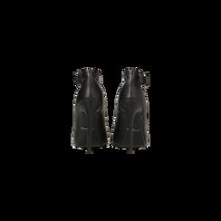 Décolleté nere con cinturino, tacco stiletto 11 cm, Scarpe, 122182062EPNERO, 003 preview
