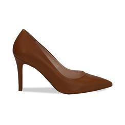 Décolleté cuero de piel, tacón 9 cm, Zapatos, 15D601001VICUOI036, 001 preview