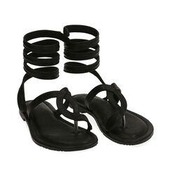 Sandalias de dedo negras, 174921381EPNERO037, 002a