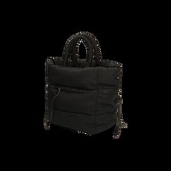 Sac duvet noir en tissu, IDEE REGALO, 165123006TSNEROUNI, 002 preview