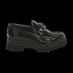 Mocasines de charol negro, Primadonna, 160685982VENERO035, 001 preview