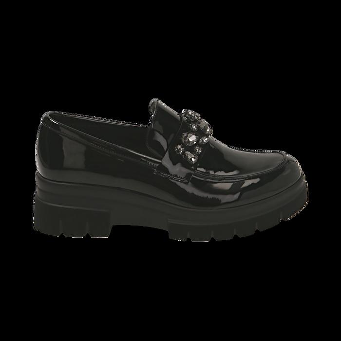 Mocasines de charol negro, Primadonna, 160685982VENERO035