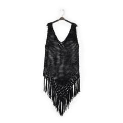 Mini-dress nero con lavorazione macramè, Primadonna, 13A345075TSNEROUNI, 001 preview