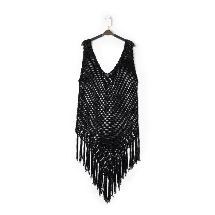 Mini-dress nero con lavorazione macramè, Primadonna, 13A345075TSNEROUNI