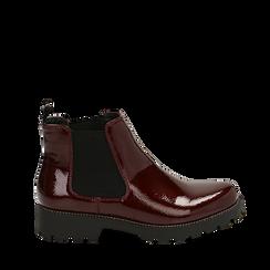 Chelsea boots bordeaux in vernice, Primadonna, 140608573VEBORD039, 001a