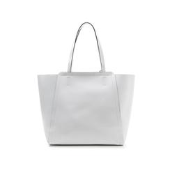 Maxi-bag bianca in eco-pelle con design a trapezio, Borse, 133763772EPBIANUNI, 003 preview