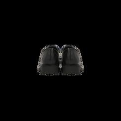 Francesine stringate nere punta tonda, Scarpe, 120801201EPNERO, 003 preview