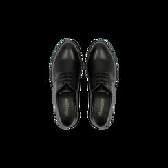Francesine stringate nere, stile urban, Scarpe, 120618201EPNERO, 004 preview