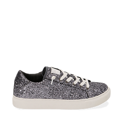 Sneakers argento glitter, Primadonna, 162600308GLARGE035, 001a